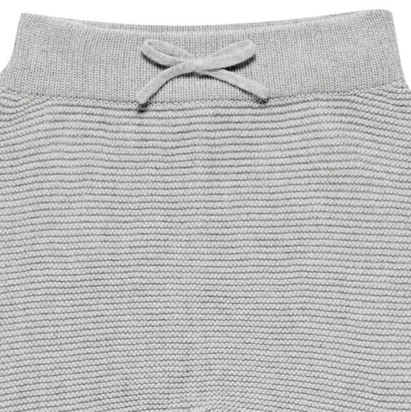 Baby Strickhose aus hochwertiger Biobaumwolle - neutral grau