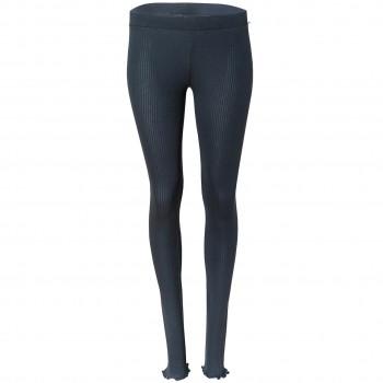 Damen Leggings Rippoptik in dunkelblau