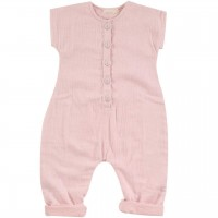 Musselin Sommer Jumpsuit rosa