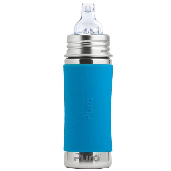 Edelstahl Trinklernflasche ab 6 Monate bis 99 Jahre blau