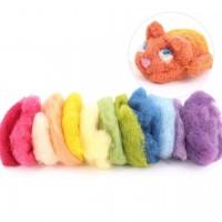 Märchenwolle zum Trockenfilzen, 12 Farben gemischt 100 g