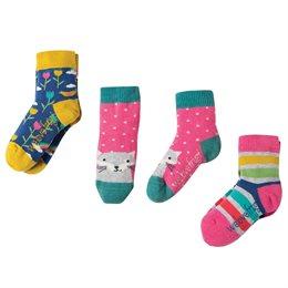 3er Pack Bio Socken Frugi Fuchs pink