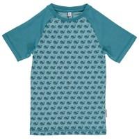 Slim Fit T-Shirt schmaler Schnitt Tiere