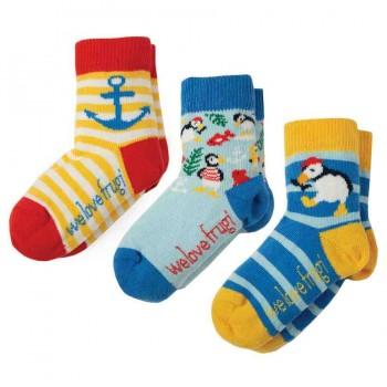Baby Socken 3er Pack Papageitaucher