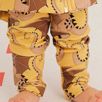 Drachen Leggings gelb