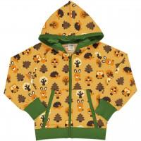 Kapuzen Jacke Wald Tiere Sweat in gelb