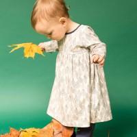 Blätter navy Baby Kleid