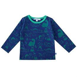 Dino Shirt langarm navy grün