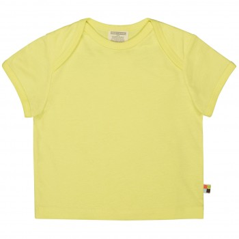 Leichtes Uni Kurzarm Shirt Basic in lemon