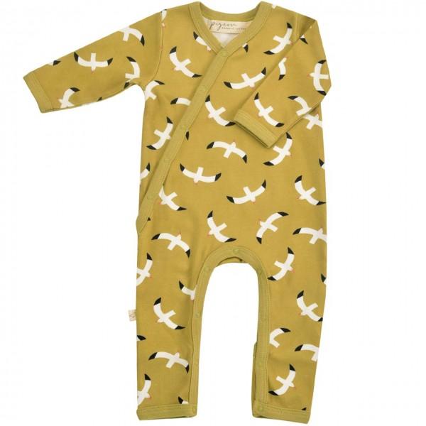 Baby Strampler mit Fußumschlag - Möwen
