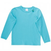 Basic Langarmshirt in hellblau