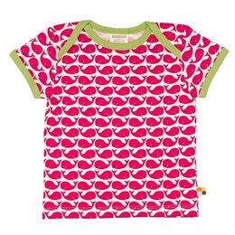Wale T-Shirt von Loud + Proud pink