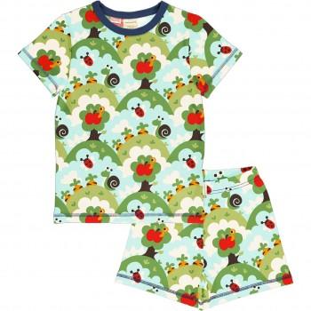 Sommer Schlafanzug Garten grün
