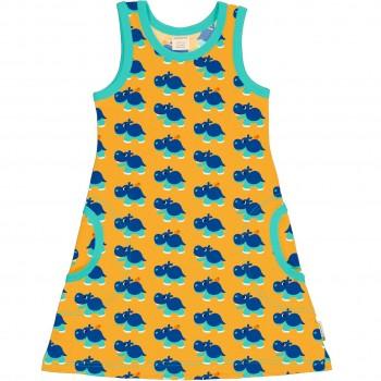 Sommerliches Kleid ohne Arm Nilpferd grün