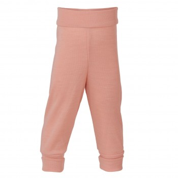 Babyhose Wolle seide in lachs-rosa