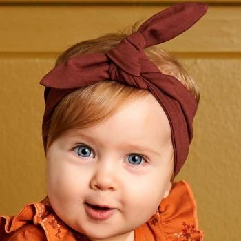 Edles Müsli Baby Haarband braun
