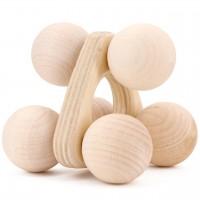 Rollgreifling Holz natur 8 cm