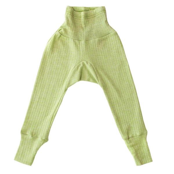 c4329f2698d4 Baumwolle Wolle Seide Leggings grün meliert