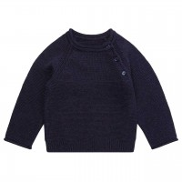 Baby Strickpullover in navy