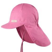 Sommermütze Nackenschutz Mädchen rosa