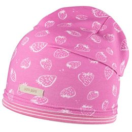 Süsse Mädchen Beanie - Erdbeere pink