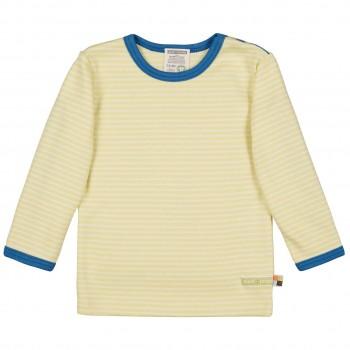 Weiches Ringel Shirt langarm in gelb