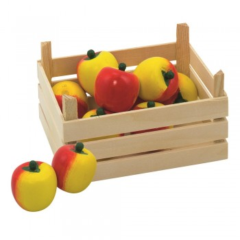 Obst Kiste für Kaufmannsladen - Apfel
