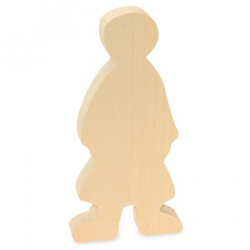 Schnitzrohling Holzfigur- Mädchen