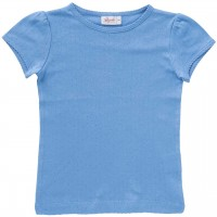 Ajour Mädchen T-Shirt hellblau