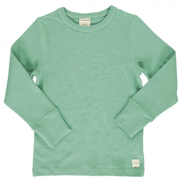 Shirt mint langarm breite Armbündchen
