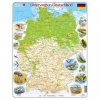 Lernpuzzle Deuschland Karte für Kinder ab 6 Jahre