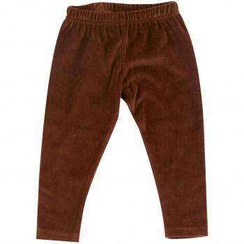 Warme Velour Leggings in braun
