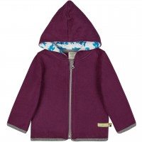 Warme Kapuzenjacke Fleece lila