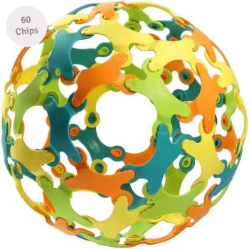Konstruktionsspiel 60 Binabo Chips – 4 Farben