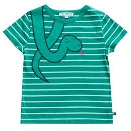 Schlangen Shirt mit Aufnäher grün mint