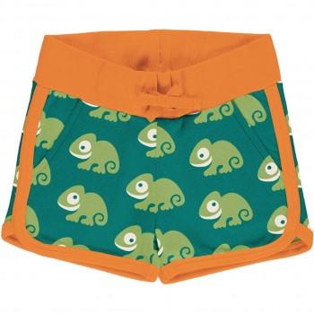 Leichte Chamäleon Jersey Shorts in grün