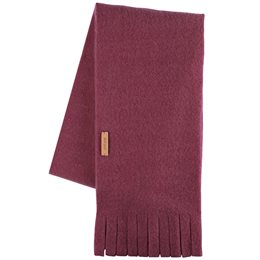Wolle Fleece Kinderschal bordo