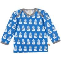 Schneemann Shirt Jersey ice blau