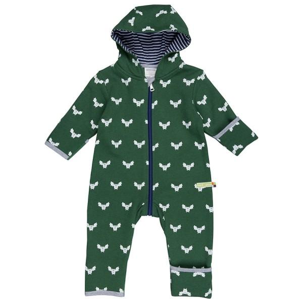 Bio Babyoverall Wolle Fledermaus grün