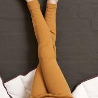 Leichte Leggings elastisch senfgelb