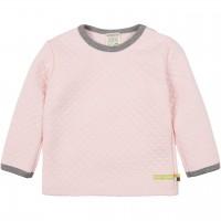 Wattiertes Strick Langarmshirt rosa