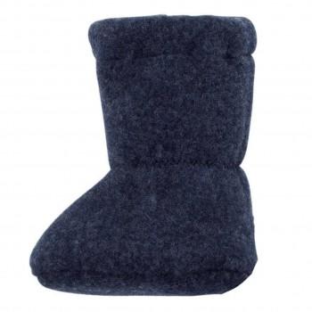 Bio Baby Füsslinge warm in jeans-blau