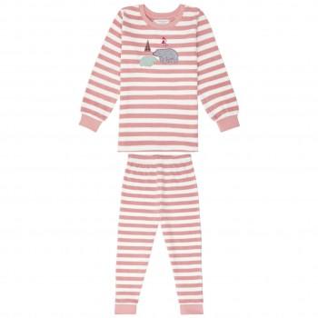 Kuschliger Frottee Schlafanzug Eisbären rosa