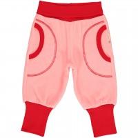 Warme Freizeithose Nicki in rosa mit breitem Bund