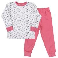 Bio Schlafanzug Mädchen ganzjährig Vogel