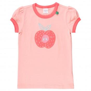 Mädchen Shirt kurzarm Puffärmel Apfel