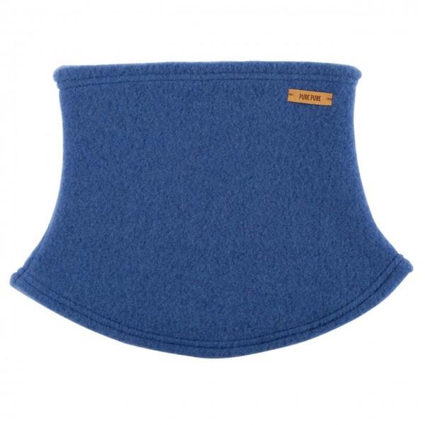 Schlauchschal aus Schurwolle Fleece blau