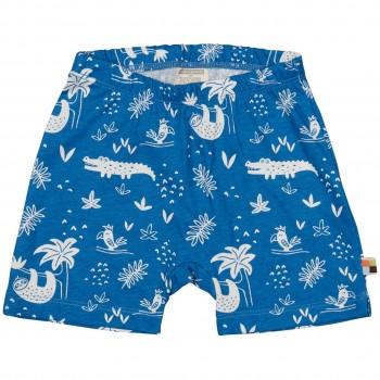 leichte Dschungel Shorts blau