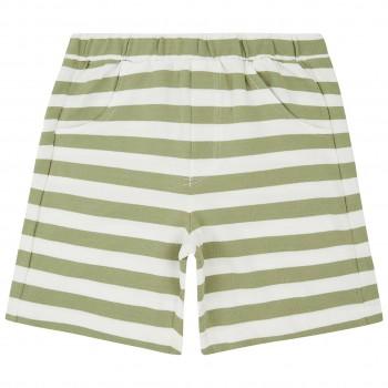 Robuste weiche Sweat Short oliv-grün