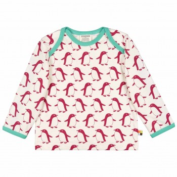 Pinguin Shirt langarm in beere